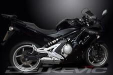 "Kawasaki EX650 ER-6 Ninja 650 13"" Stainless Tri-Oval Muffler Exhaust 06 07 08"