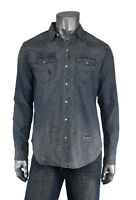 Ralph Lauren Polo Distressed Repaired Western Denim RRL Style Shirt New