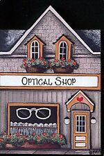 Brandywine Collectible Houses & Shops: Optical Shop - Wooden Shelf Sitter