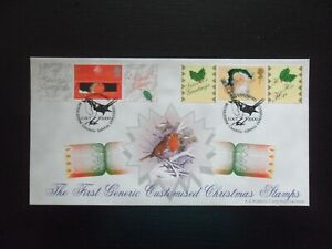 2000. THE FIRST GENERIC CUSTOMISED CHRISTMAS STAMPS. BRADBURY FDC. S/HS. RARE