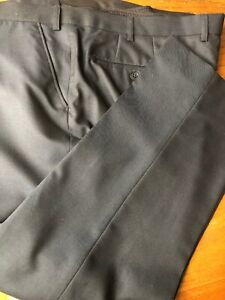 Mens Brand New Suit Trousers With Wool Flat Front Rrp £25 Size 40 Short