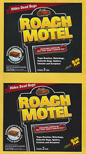 FREE S&H! BLACK FLAG ROACH MOTEL 2 BOXES OF 2 INSECTICIDE FREE BAITED GLUE TRAPS