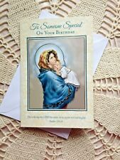 To Someone Special On Your Birthday CARD, MADONNA & CHILD NEW, with envelope