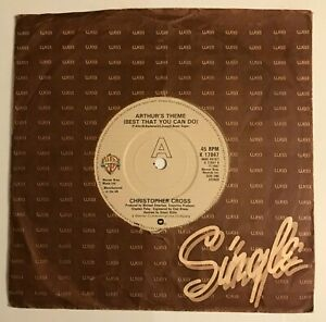 """Christopher Cross - """"Arthur's Theme (Best That You Can Do)""""  7"""" (1981)  LOG3"""