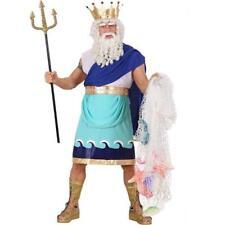POSEIDON NEPTUN Herren Kostüm Gr. S 46 Meeresgott Märchen Party #7361