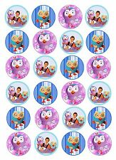 24 x GIGGLE AND HOOT Edible Rice/Wafer Cake Cupcake toppers