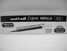 12pcs refills UNI-BALL UMR-85 0.5mm roller ball pen Black(Japan)