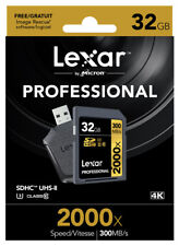 Lexar 2000x SDHC Memory Card UHS-II (U3, Class 10) 32GB with SD UHS-II Reader