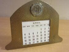 Antique Lakeland Battery Mfg Co Bronze Advertising Calendar - Metal Arts Ny