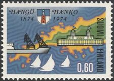 Finland 1974 Hanko/Ship/Harbour/Buildings/Architecture/Heritage/Map 1v (n19580g)