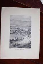 ✒ ca.1920 Achille ALLIER Le Vieux Montluçon (1830) imprimé par Marcel SERVANT