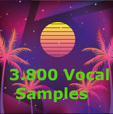 3800 Vocal Samples, 9GB  High Quality, WAV, Modern Genres, Different Styles