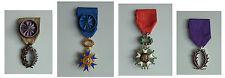Ensemble de 4 médailles - légion d'honneur 1870 - Ordre national du mérite ..
