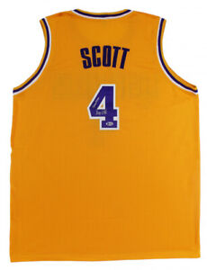 """Byron Scott Signed Los Angeles Lakers Jersey Inscribed """"Showtime"""" (Beckett COA)"""