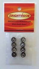 8 Brightvision Redline Wheels - 8 Small Deep Dish Dull Chrome Style