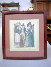 Colorierte moda alemana página para moda 1789 1790 3 damas 1 el Sr. [Negro]