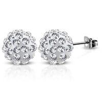 Ohrstecker Shamballa kristallklar Silber aus Edelstahl Damen Frauen Ohrringe BFF