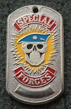 RUSSIAN DOG TAG PENDANT MEDAL   blue beret special forces  #121S