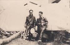 A6415) WW1, FOTOGRAFIA DI 2 PILOTI CON GIACCONE E CALZONI DI PELLE.