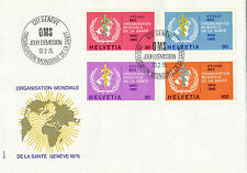 UNITED NATIONS SWITZERLAND 1975 WORLD HEALTH ORGANISATION FIRST DAY COVER