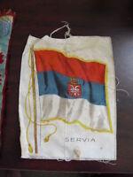 Early 1900s Nero Cigarettes Silk Servia Flag LOOK