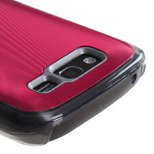 For Samsung Galaxy S Blaze 4G METAL Cosmo HARD Case Snap On Phone Cover Red