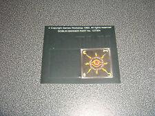 Citadel/Warhammer orcos & goblins estándar Banners bbbb/Rare fuera de imprenta