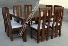 Solid wood 9 pcs Dining Set  -  1 Square table + 8 chairs !