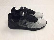 Le Coq Sportif R XVI Gradient Jacquard Trainer, Black / White, UK 10