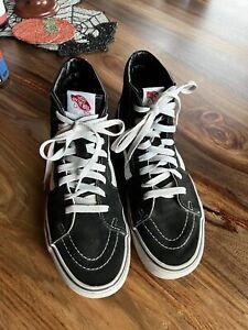 Vans Old Skool High Top Black/White Suede Skateboarding Shoes Size M 9 / W 10.5