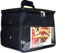 """Hot Food Delivery Bag Size:14""""x12""""x10"""" for Kebab Indian Chinese Pizza Delivery"""