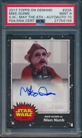 2017 Topps On Demand Mike Quinn Star Wars May 4th Auto Card #20A PSA 9 AUTO 10