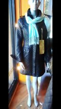 $1895.00 NWT AUTH K-YEN KNEE LENGTH QUILTED LAMB LEATHER COAT SIZE M FRANCE 🇫🇷