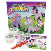 Make Your Own Dough Unicorn Figure Kids Girls Art Craft DIY Activity Gift Toy