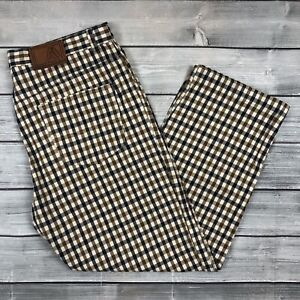 "Aquascutum House Check Cotton Trousers Size W36"" L30"" Vintage RARE"