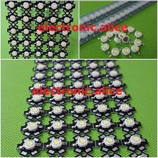 100pcs New 3W High Power cool white 6000-6500k LED+20mm star pcb