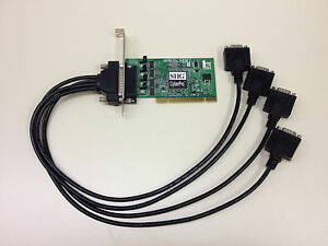 SIIG CyberPro DP Quartet 550 v6.0 JJ-P04621-S6 4-Port Serial Card