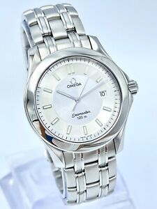 Omega Seamaster 36mm White Dial Stainless Steel Quartz 2511.32 Box & Papers