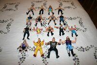 Lot of 17 Vtg 1990's Jakks Titan Marvel Wrestling Action Figures WWE WWF WCW
