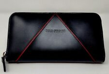 NWT *New From Italy* Max Stanco ZipAround Leather Wallet/Card Holder/Black