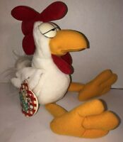 """Vintage 1987 ROY ROOSTER U.S. Acres 16"""" Plush Garfield Friends Tags Very RARE"""