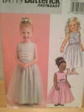 Butterick Sewing Pattern 4719 Girls Child Dress Size 6-8 Uncut