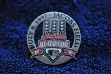 """Cleveland Indians """"1997 All-Star Game""""  Pin!  Rare! July 8, 1997. Pewter Look!"""