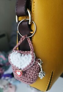 Crochet Keyring Mini Handbag Gift