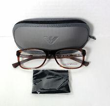 EMPORIO ARMANI Prescription Eyeglasses EA3001 5069 Brown Frame 52-17-140mm