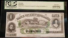 1860'S BANK OF NEW ENGLAND $1 BROKEN BANK NOTE -EAST HADDAM, CT.- PCGS 65PPQ