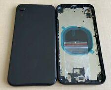Châssis arrière IPHONE XR NOIR / GRIS SIDERAL avec vitre arrière / LOGO + CE