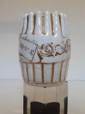 """Pot à cigares - porcelaine blanche et dorures - """"Havane"""" - signé à identifier"""