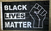 BLACK LIVES MATTER Large Flag 3x5 Feet Banner Protest Support BLM Movement Flag