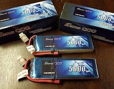 2x Gens ace 5000mAh 11.1V 45C 3S Lipo Battery Traxxas Slash Revo XMAXX TURNIGY